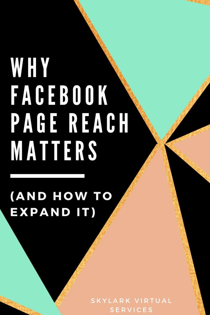 Facebook page reach Pinterest image