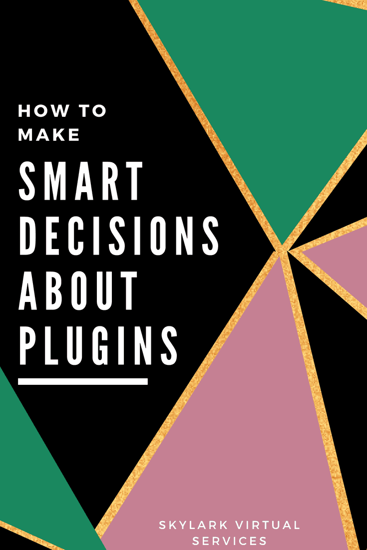 Choosing plugins - how to do it Pinterest graphic