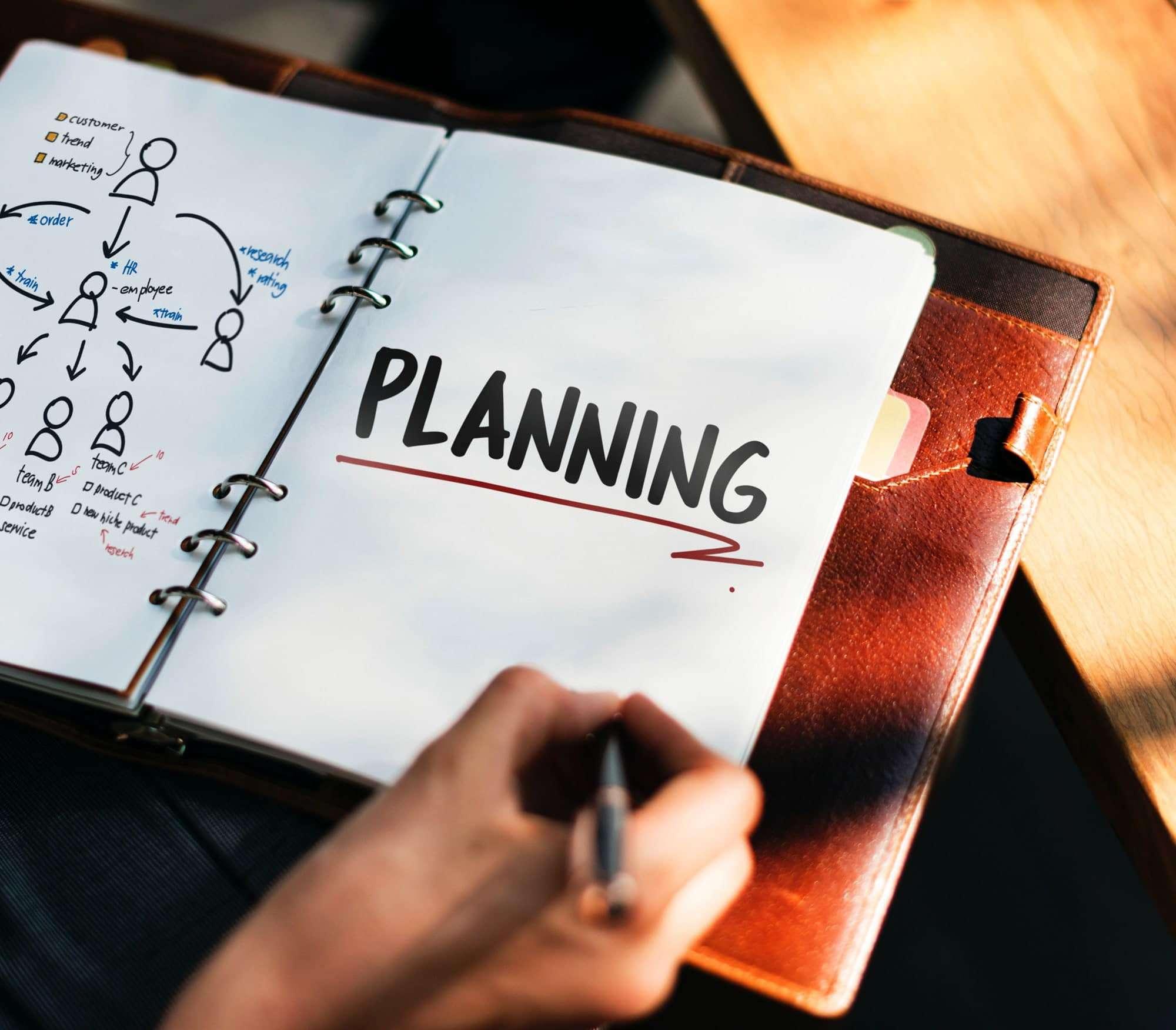 Planning in an organiser