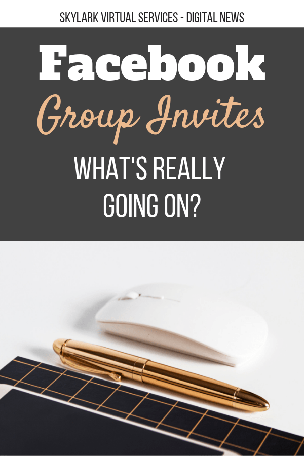 Facebook group invites - Pinterest graphic